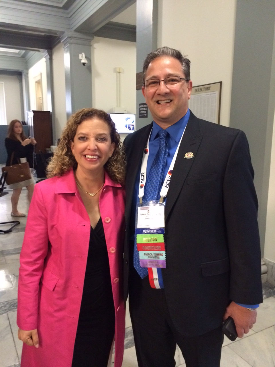 Congresswoman Wasserman Schultz and Dr. Cernigliaro